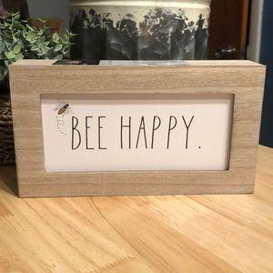 NWT Bee Happy Rae Dunn sign